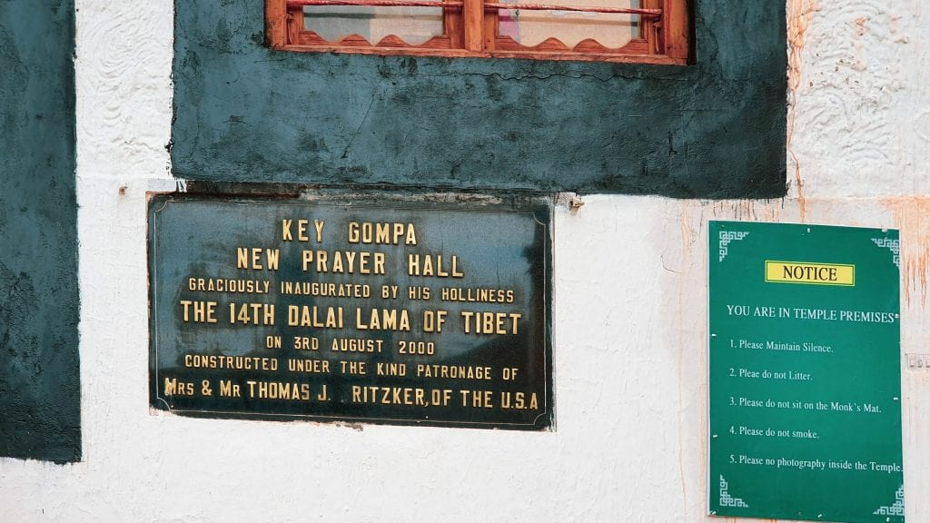 Dalai Lama in Key Gompa