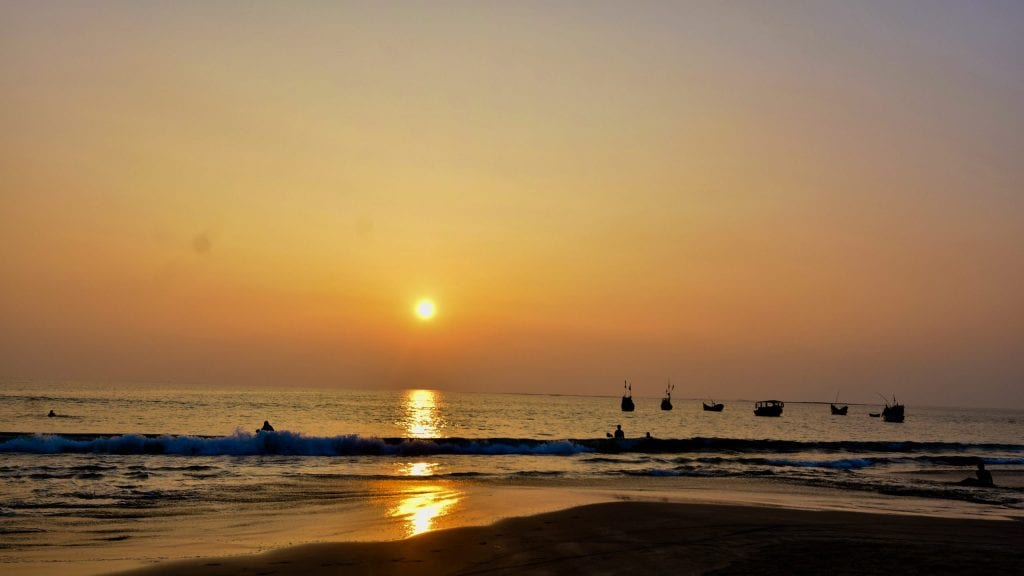 Sunset in Saint Martin's Island