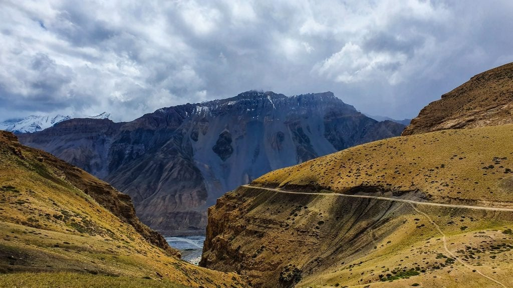 Grand Canyons in Hikkim in Spiti Valley.