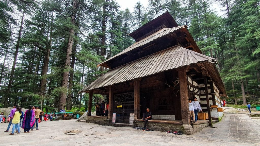 Hadimba Devi Temple in Manali, India. Visit here if you have One Day in Manali.