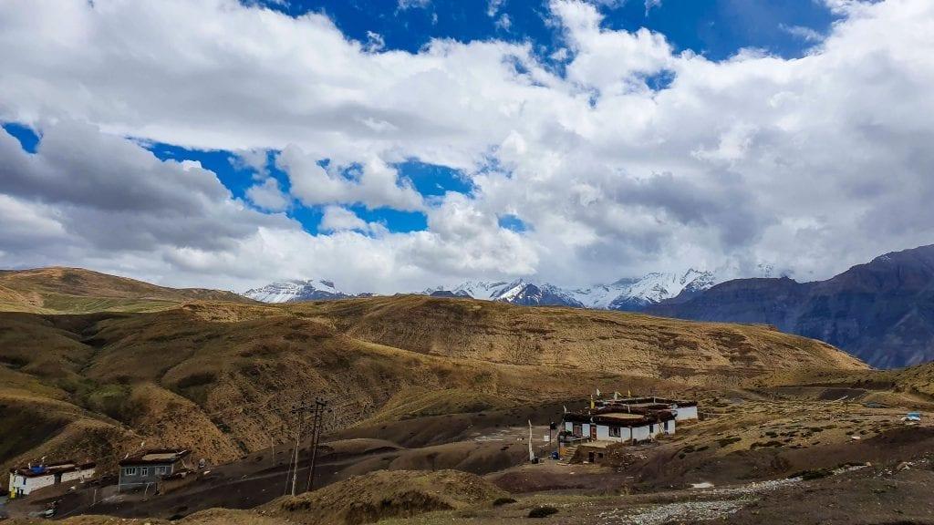 Hikkim Village in Spiti valley of India
