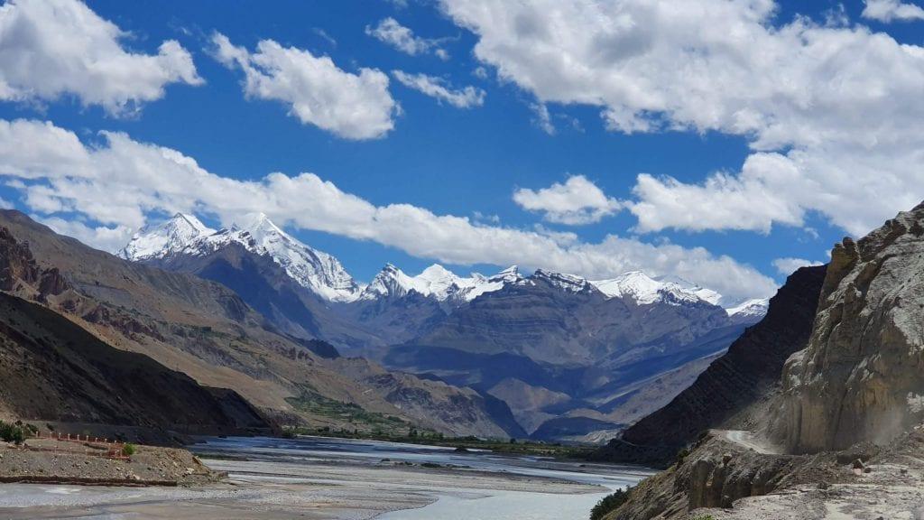 Himalayan Mountain Range in Spiti Valley