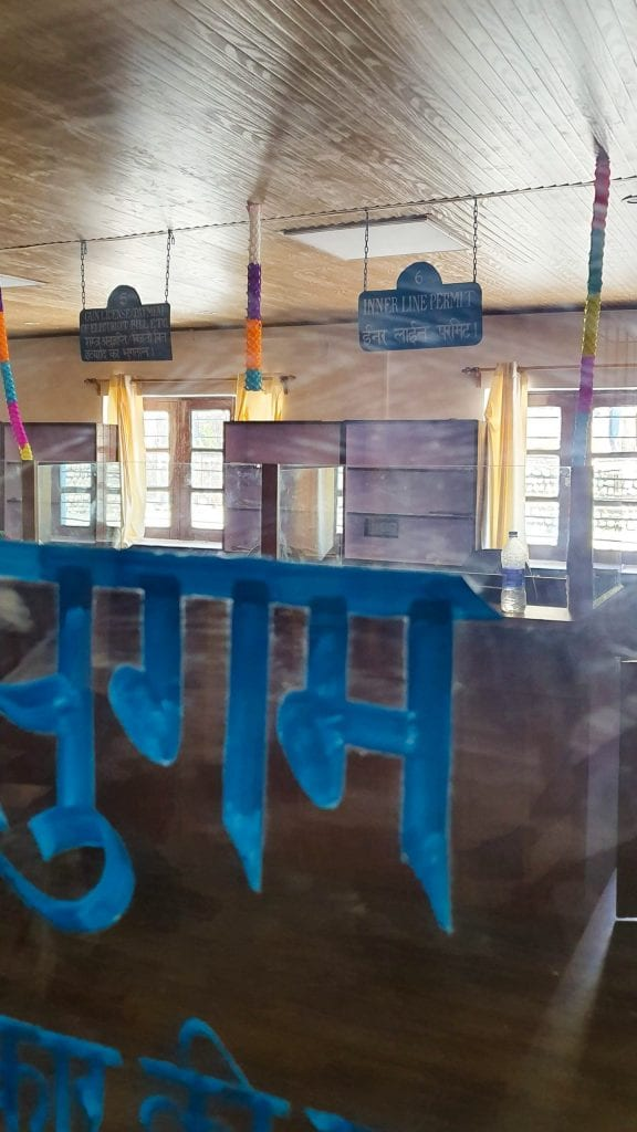 Inner Line Permit Booth in Kaza