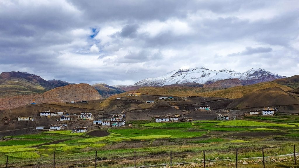 Langza village in Spiti Valley, India