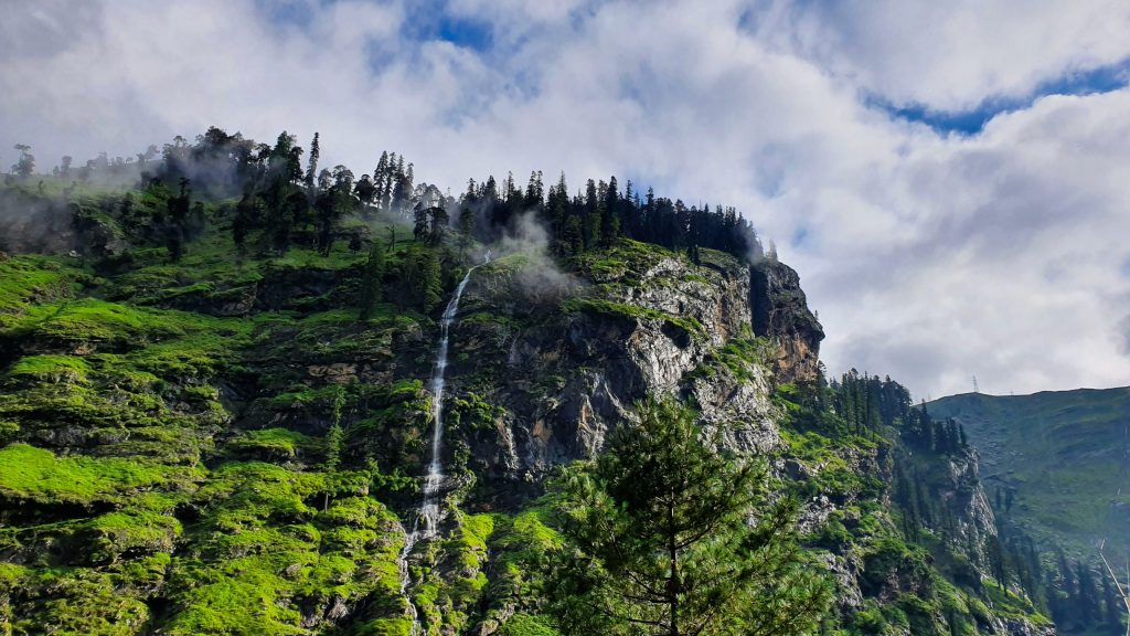 A beautiful waterfall on my way to Spiti valley from Manali.