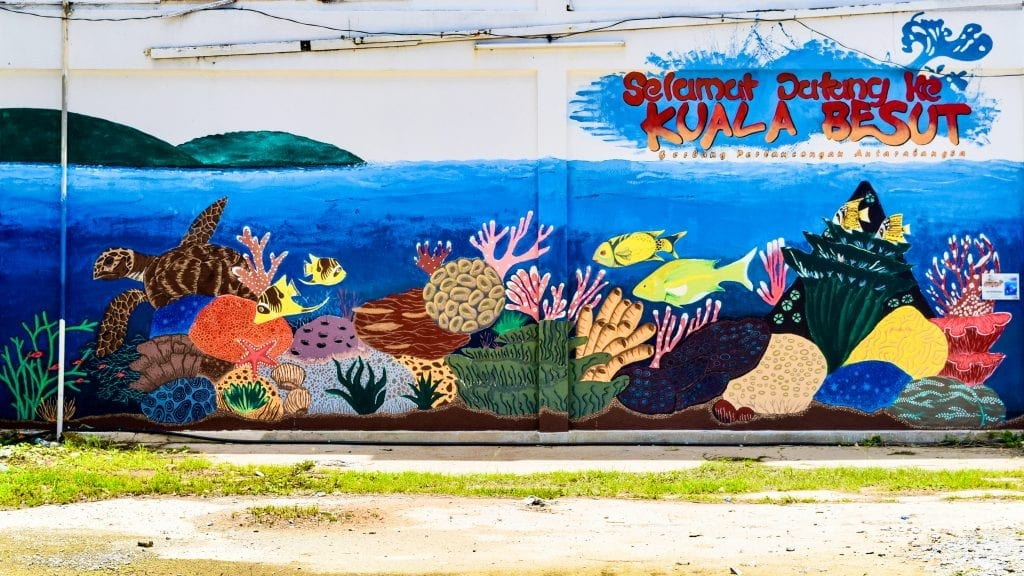 A wall in Kuala Besut - the gateway to Perhentian Islands.