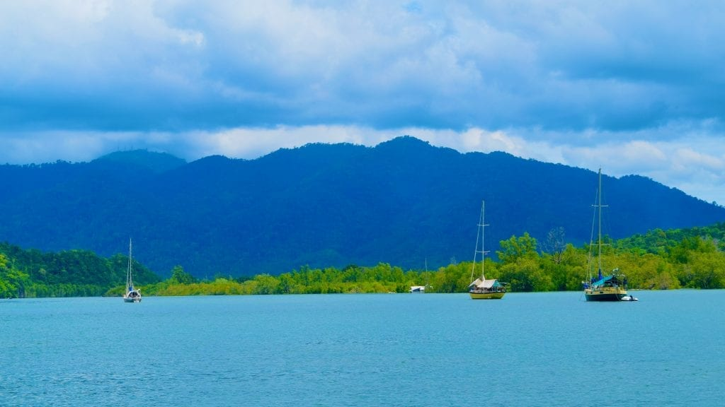 Boats sailing in Langkawi