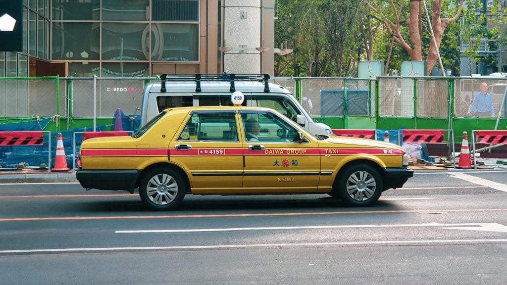 Japanese Taxi Cab is expensive comparing to public transportations