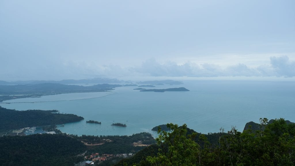 Bird's eye view of Langkawi from Cable Car