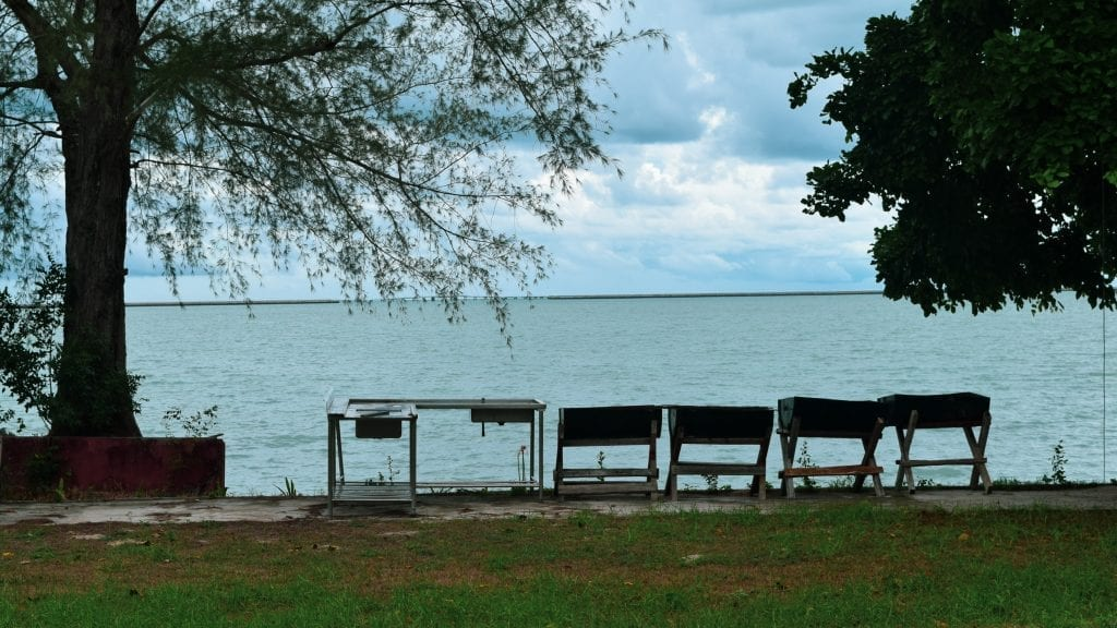 Ocean front view of hotel in Langkawi