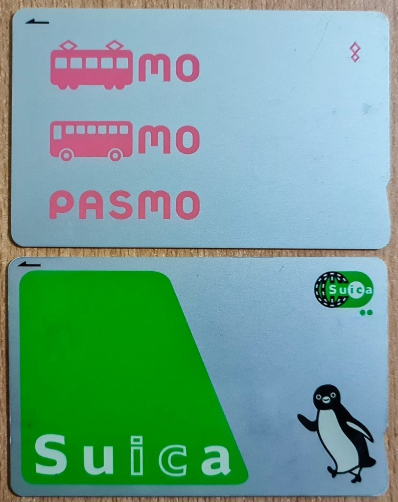 Pasmo and Suica IC Card in Japan