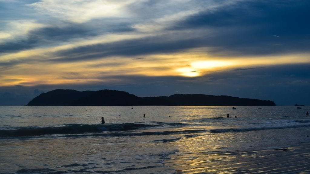 Gorgeous Sunset in Pantai Cenang, Langkawi, this is one of the top things to do in Langkawi.
