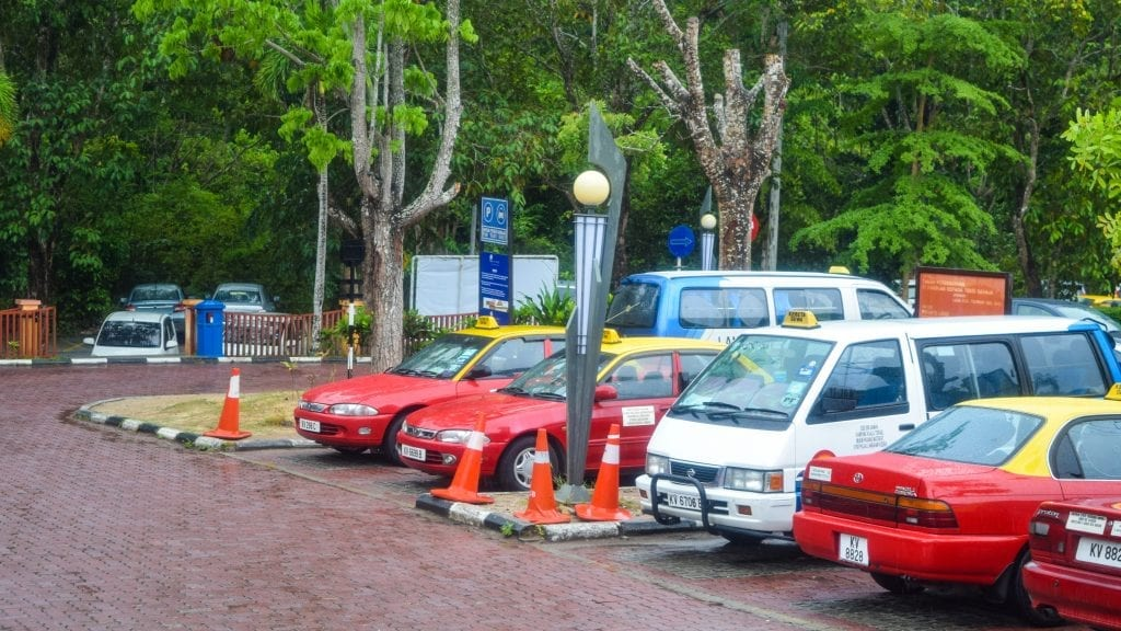 Red Taxi in Langkawi