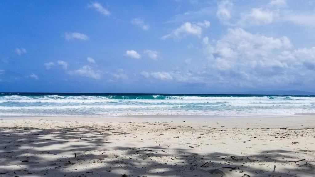 Waves in Radhanagar Beach in Andaman Island