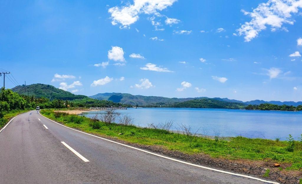 Coastal road in Sekotong