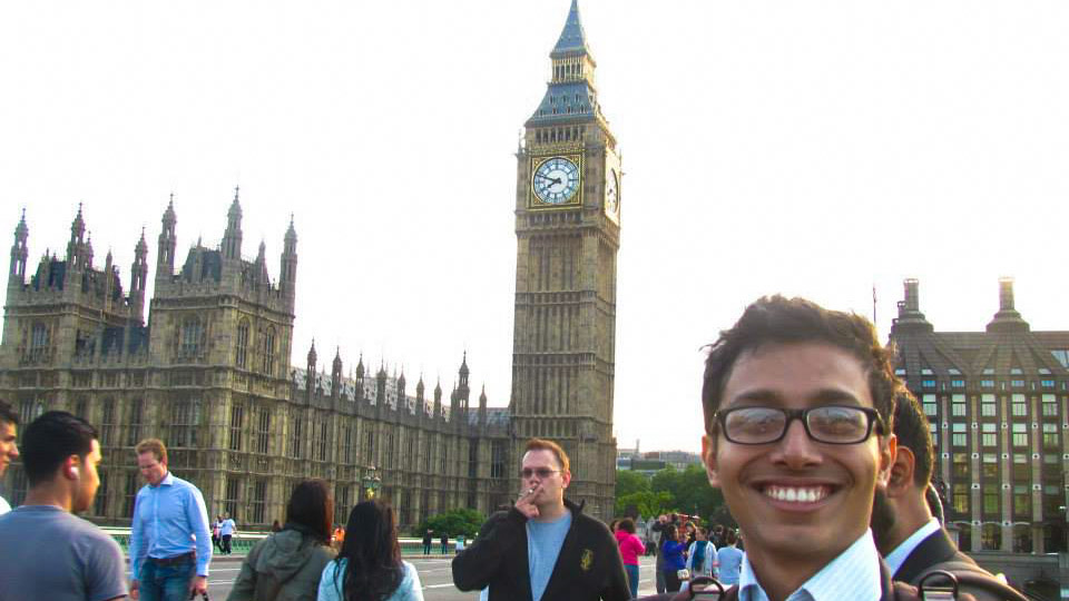 Fuad in front of Big Ben