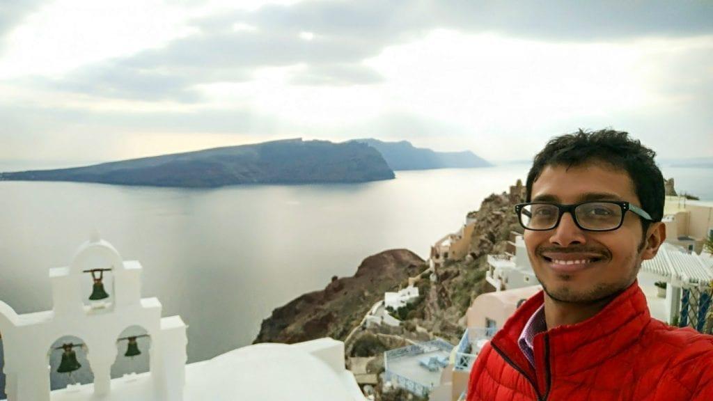 Fuad in Santorini
