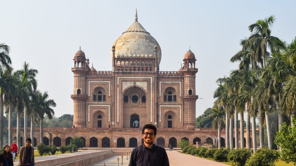 Fuad in Humayun's Tomb