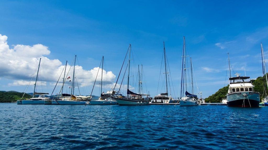 Yacht Near Gili Gede