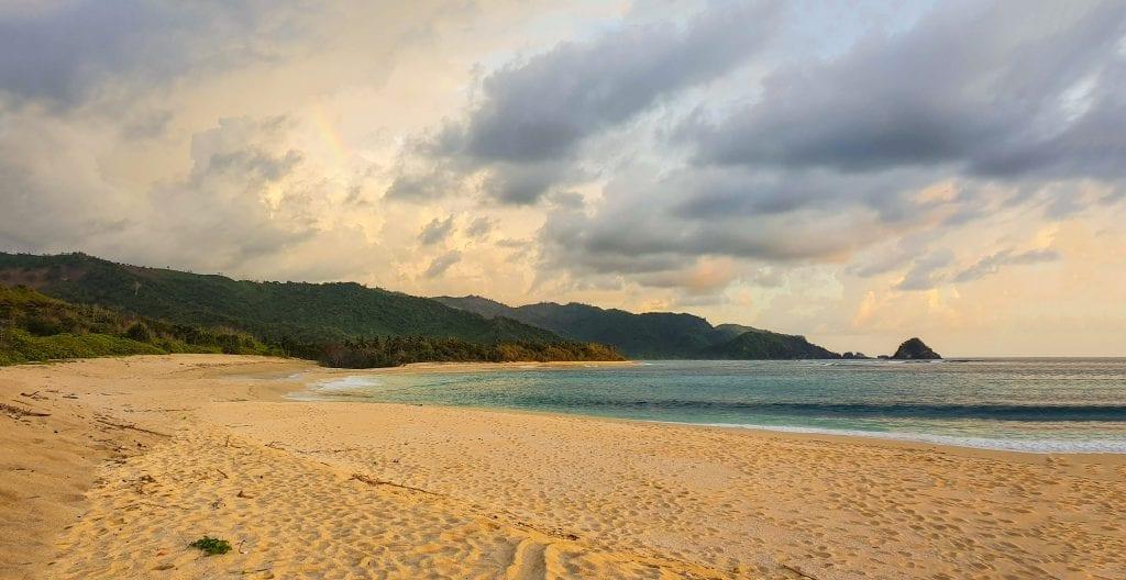 Mekaki beach during evening