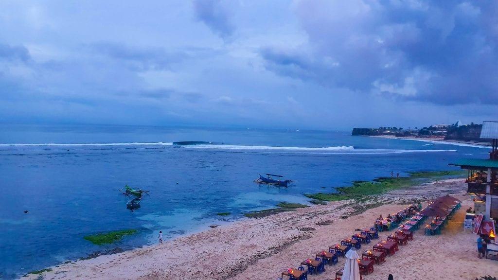 Restaurant in Bingin Beach in Bali