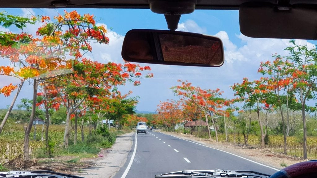 Road to Sekotong in Lombok