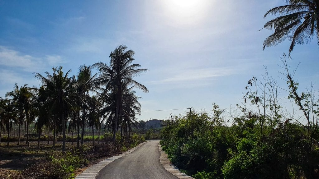 Narrow road in Ekas, Lombok