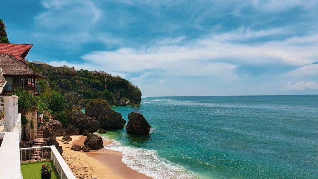 Side View of Bingin Beach in Bali