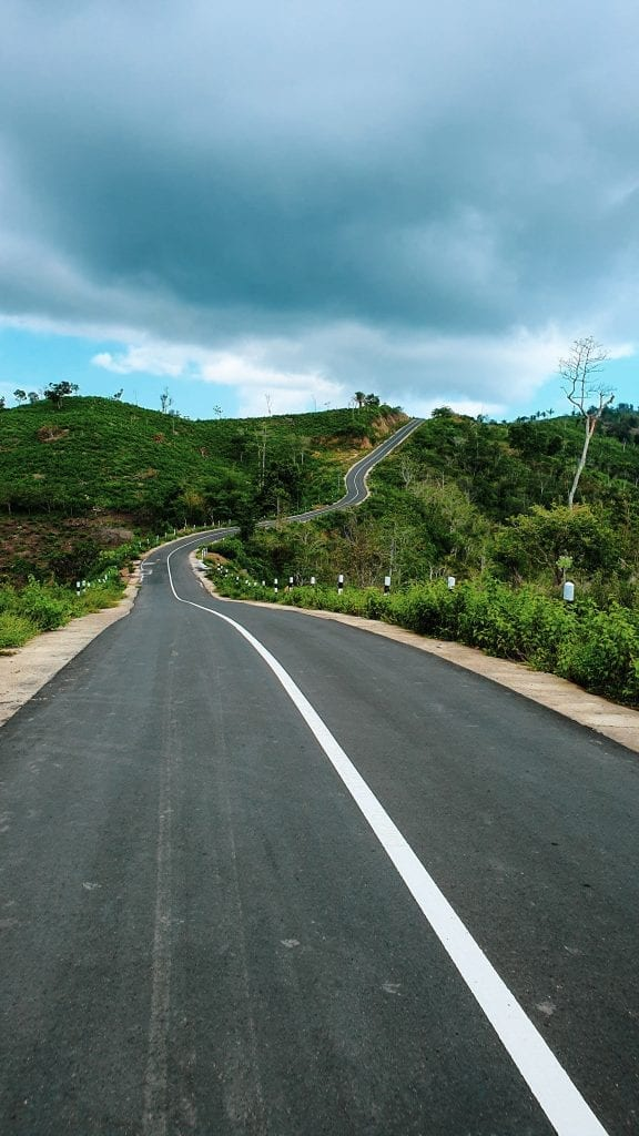 Road like a Snake in Sekotong Lombok