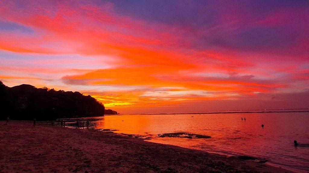 Amazing Sunset in Bingin Beach