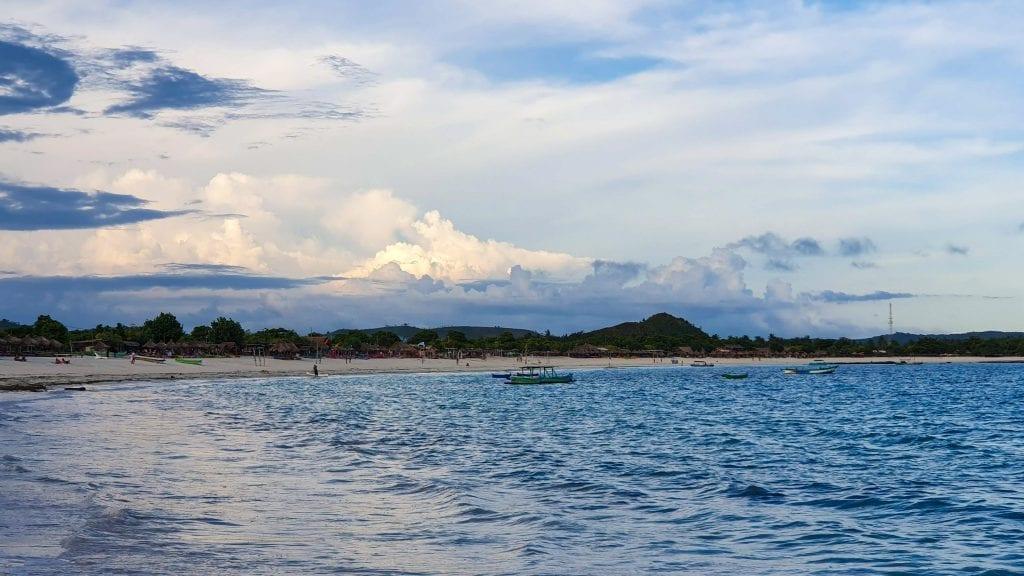 Tanjung Aan in Kuta in Lombok