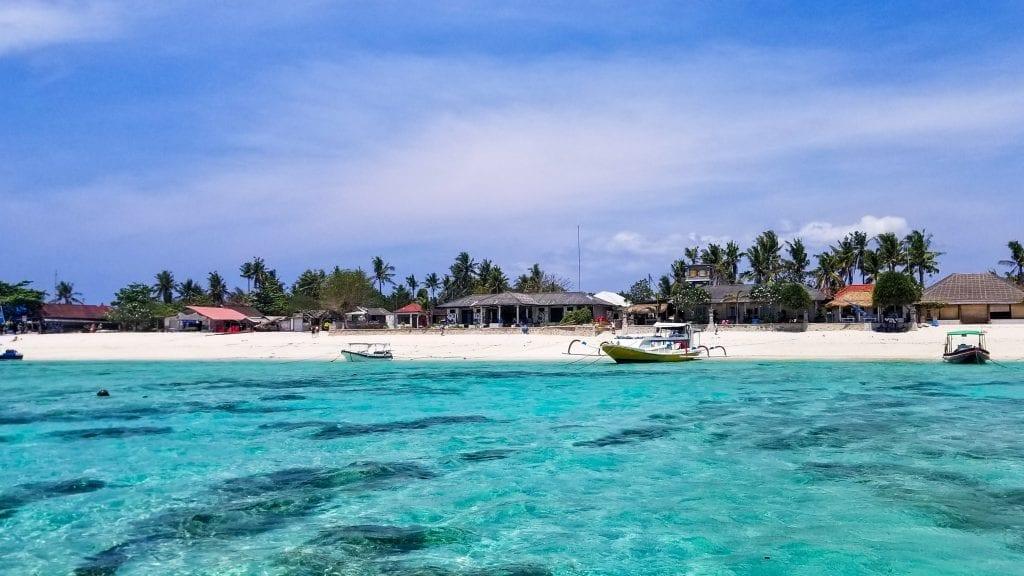 First Glimpse of Nusa Lembongan