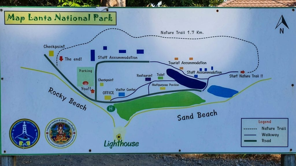 Map of Koh Lanta National Park