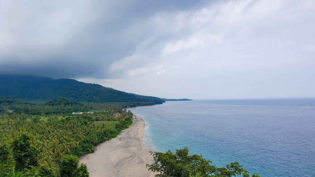Top View of Senggigi Beach