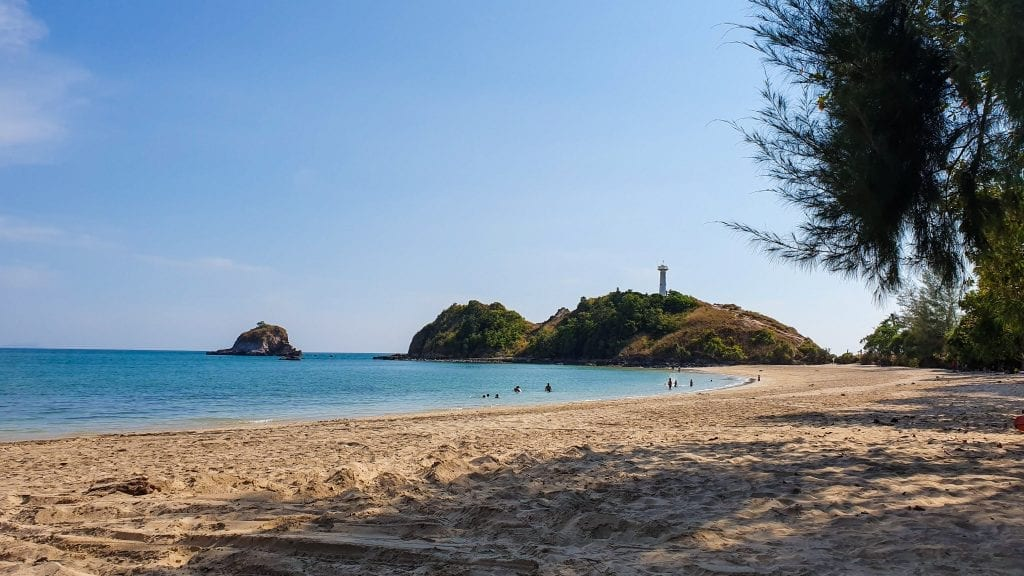 Sand Beach - one of the Twin Beaches in lanta national park