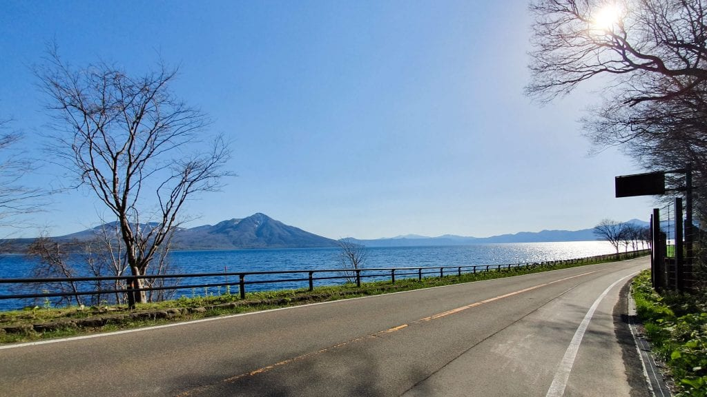 Beautiful Road Around Lake Shikotsu