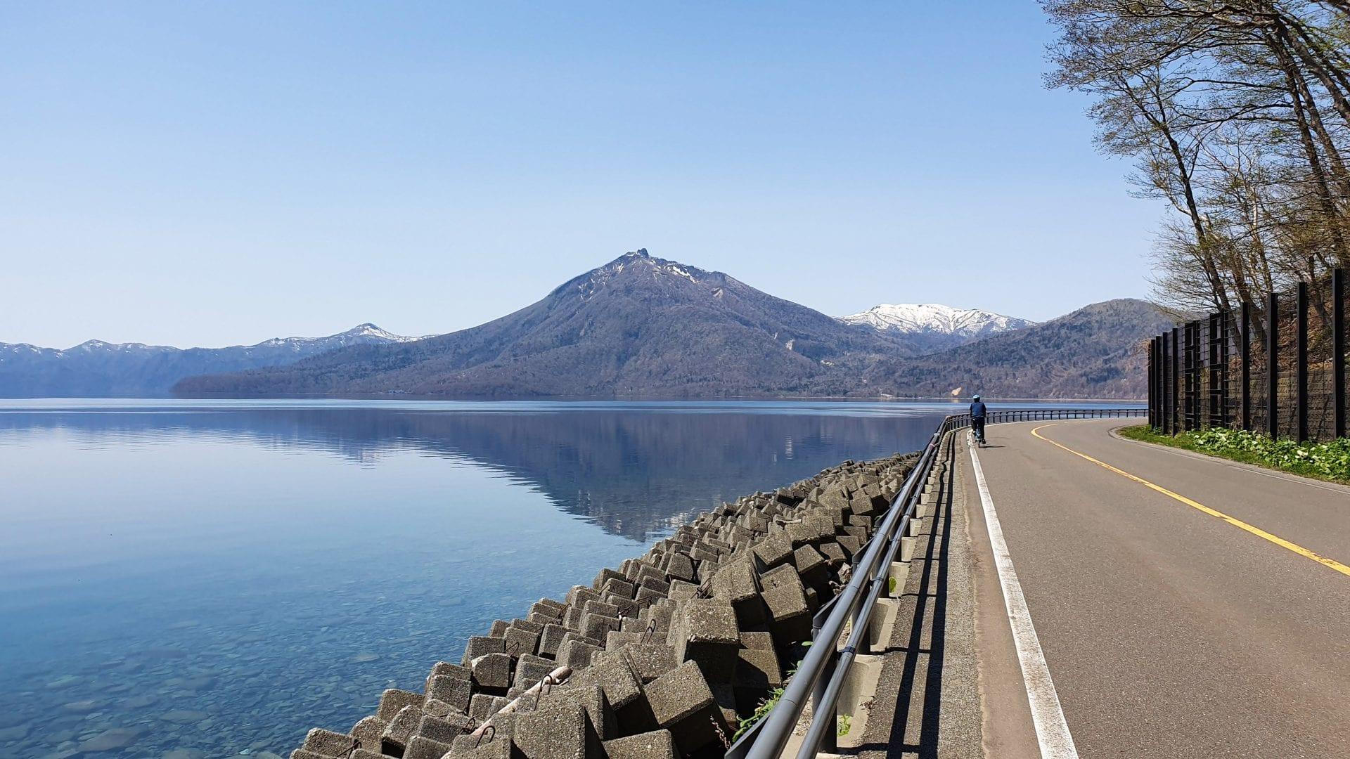 Cycling Around Lake Shikotsu