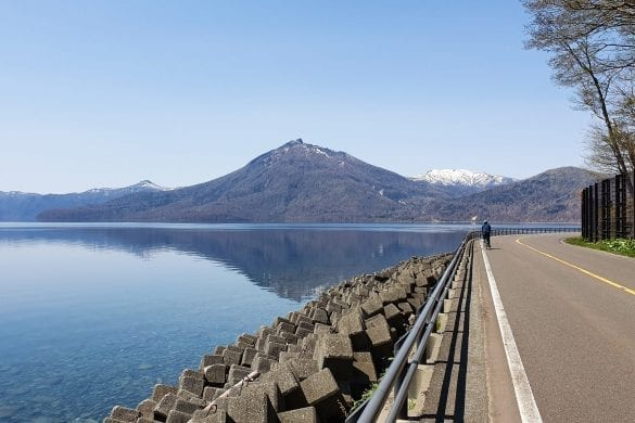 Cycling Around Lake Shikotsu
