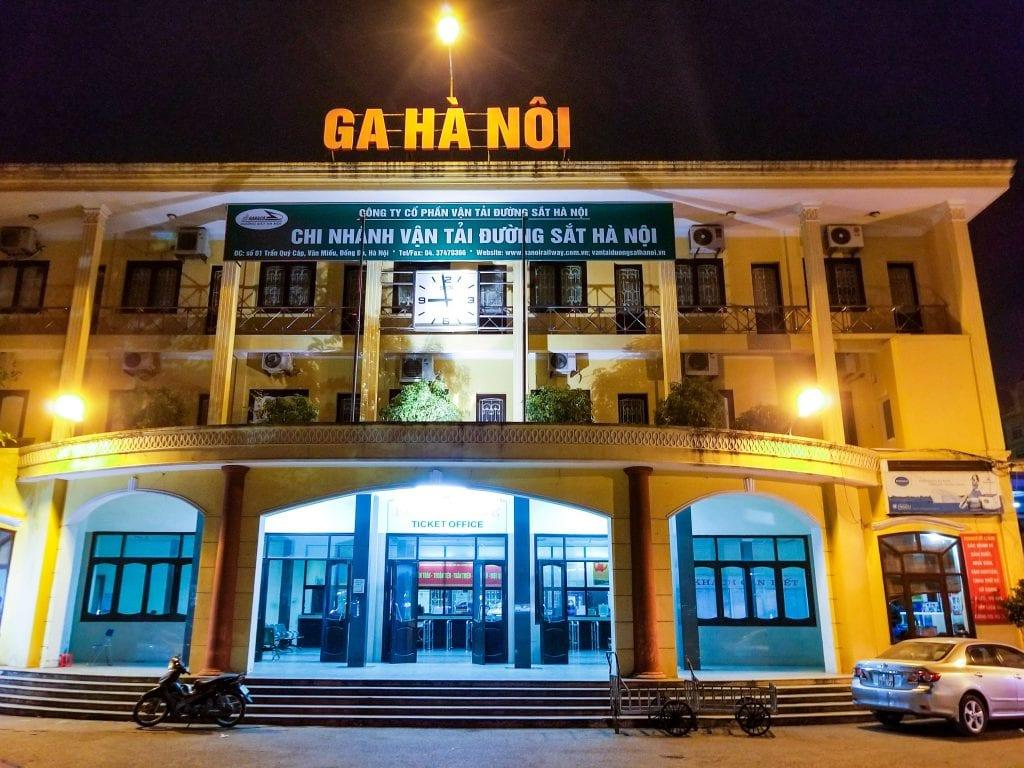 Hanoi Train Station in Vietnam