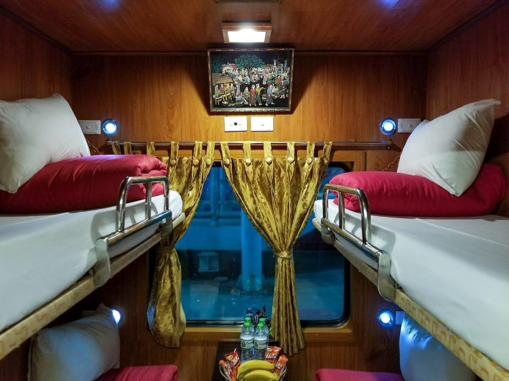 Inside a Train from Hanoi to Sapa