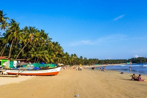 Palolem Bbeach in South Goa