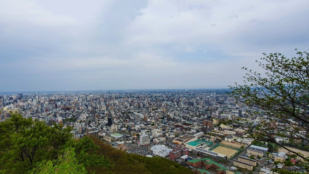 Top view of Sapporo from Maruyama Mountain
