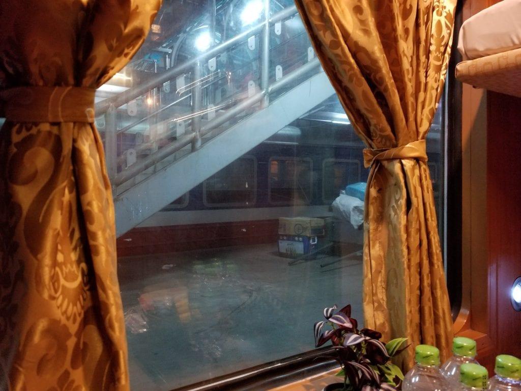 Train Window of sleeper class to Sapa from Hanoi