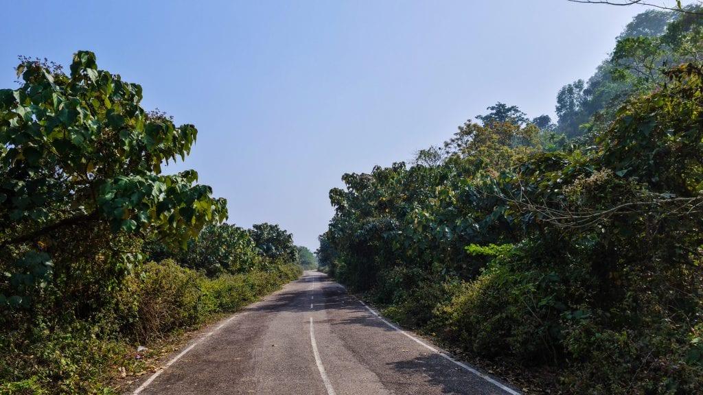 Beautiful Road Towards Zero Point in Netrokona