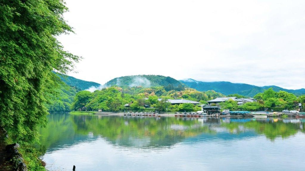 Beutiful Katsura River in Arashiyama