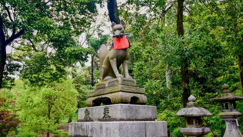 Fox Statue in Fushimi Inari Taisha