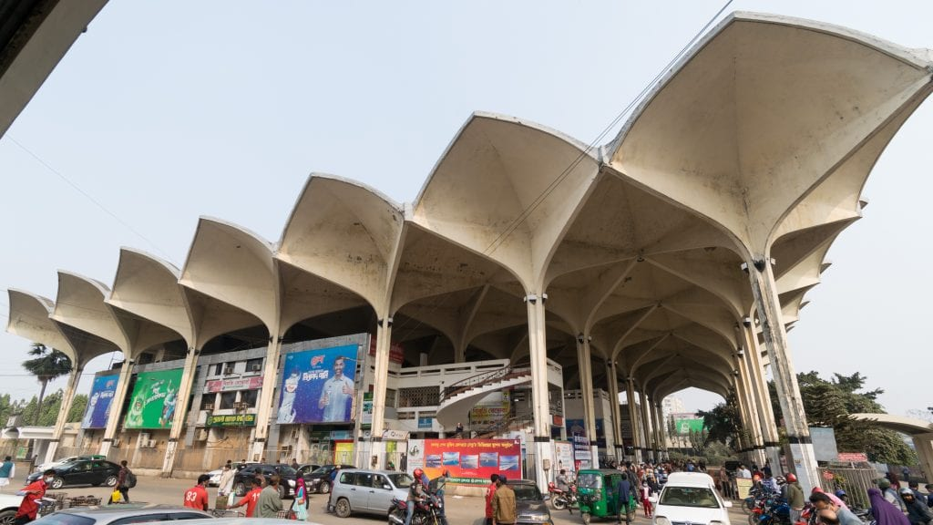 Kamalapur Railway Station in Dhaka