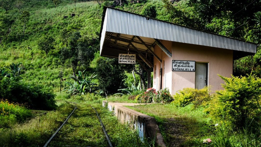 Kithalella Station in Sri Lanka