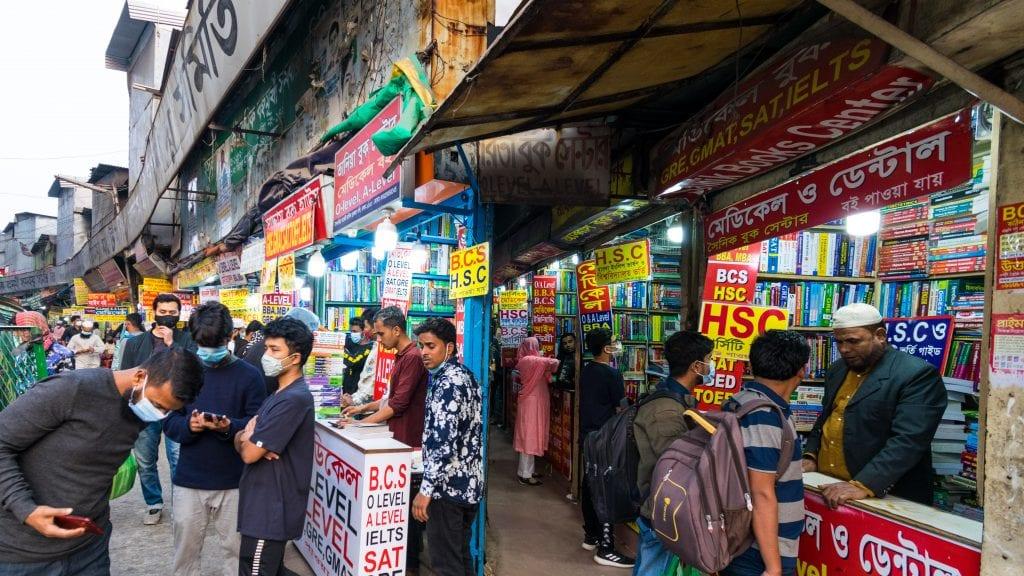 Nilkhet Book Market in Dhaka