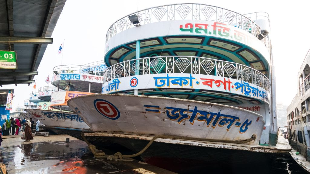Sadarghat Launch Terminal in Dhaka, Bangladesh
